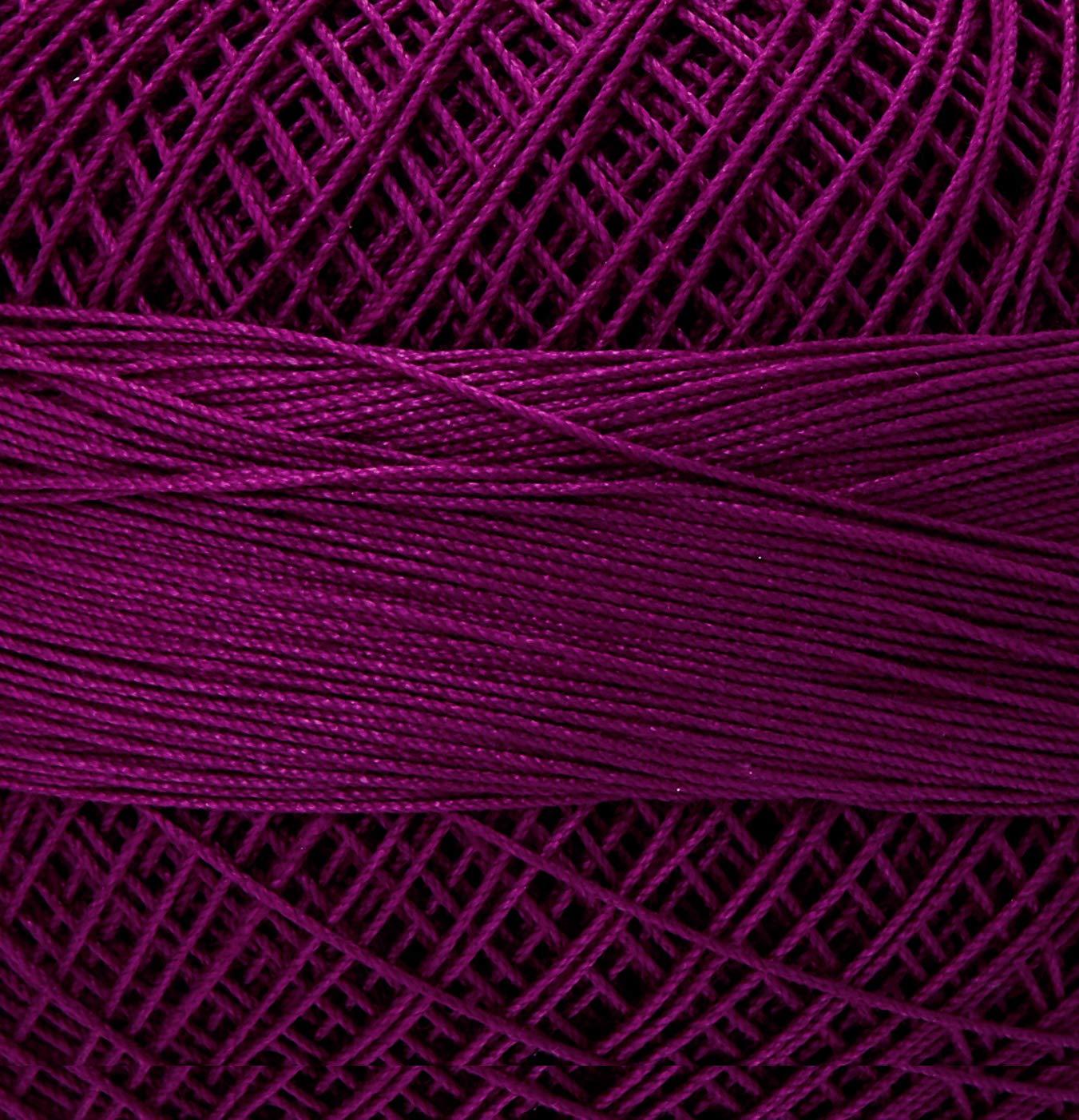 Handy Hands HH10-644 Embroidery Lizbeth Cordonnet Cotton Size 10-Dark Boysenberry
